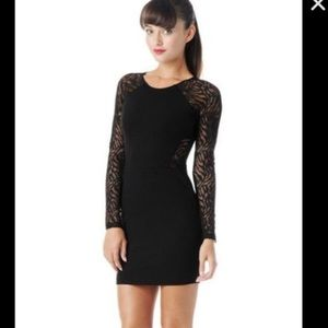 Parker long sleeve LBD with lace cut out